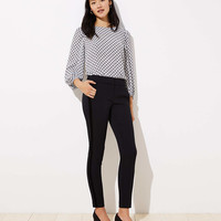 Petite Skinny Velvet Stripe Ankle Pants in Marisa Fit | LOFT