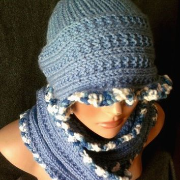 Knitted Scarf Hat Set