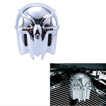 1pcs Motorcycle Chrome SKULL HORN COVER For Harley