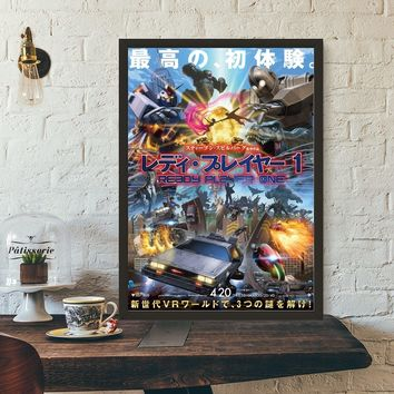 Ready Player One Japanese Movie Poster Wall Art Wall Decor Silk Prints Art Poster Paintings For Living Room No Frame