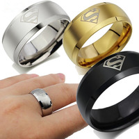 Romantic 8mm Alloy Party Wedding Bands For Men Sa723