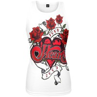 Heart - Roses Juniors Tank Top
