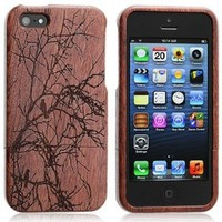 Chromo Inc.® iPhone 5 Bamboo Case 100% Real Wood Embossed - Winter Garden