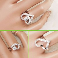 Love Together Statement Ring Set (2 Rings, Detachable)