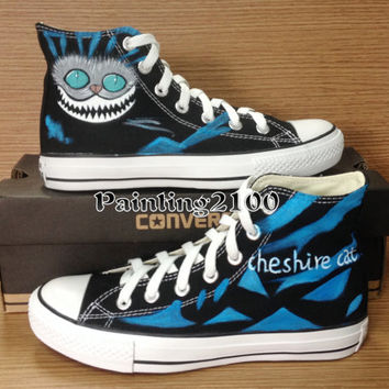 Cheshire cat shoes,Custom converse shoes,Hand painted shoes,The best gift