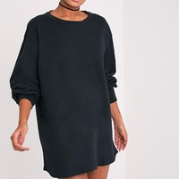 Sianna Black Oversized Sweater Dress
