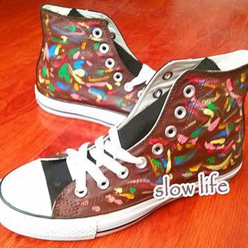Colour-Rendering painted shoes/Converse canvas shoes/Custom canvas shoes/Converse Shor