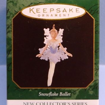 1997 Snowflake Ballet Hallmark Retired Miniature Series Ornament