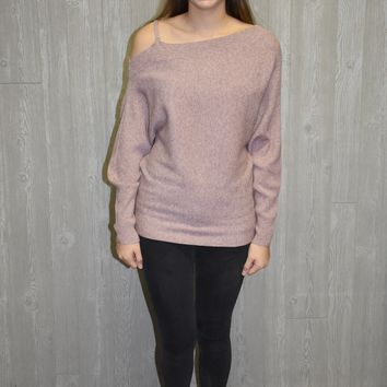 Bank On It Open Shoulder Sweater
