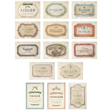 Dailylike Stick and Sewing leather label sticker set - tag
