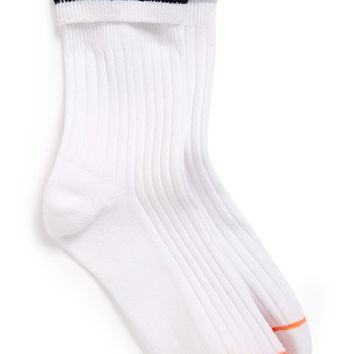 Women's Stance 'Sup Boys' Cuffed Ankle Socks - White