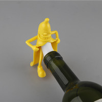 Mr.Banana Creative Soda Wine Bottle Novelty Stopper Corkscrews Bar Tool Wine Beer Bottle Cork Stopper Bar Novely Gift