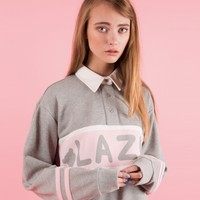 Lazy Oaf Lazy Girl Rugby Sweatshirt - Tops - Categories - Womens
