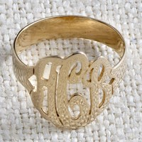 Initial Reaction Monogram Ring