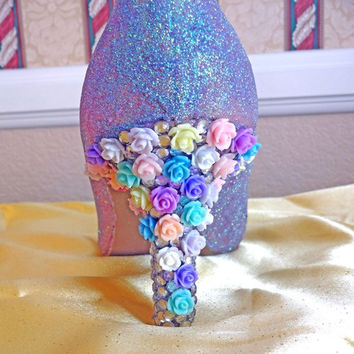 Glitter Shoes/Flower and Rhinestone Heels
