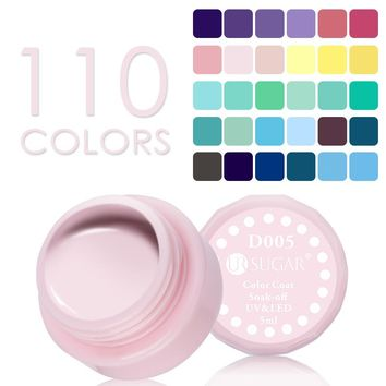 UR SUGAR Nude Color UV Nail Gel Opal Jelly Gel Semi-transparent Soak Off Pure Colors UV LED Coat Nail Gel Polish Varnish Lacquer