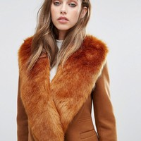 Missguided Faux Fur Stole at asos.com