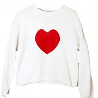 Heart On Tacky Ugly Valentines Sweater Women's Size Large (L) $18 - The Ugly Sweater Shop
