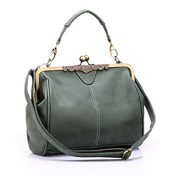 Retro PU Leather Small Shoulder Bag