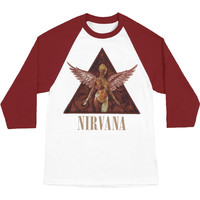 Nirvana Men's  In Utero Baseball Jersey White