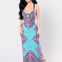 Sing A Melody Dress - Jade