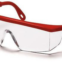 Pyramex Integra SR410S Clear Lens Red Safety Glasses Adjustable Job Work Eyewear