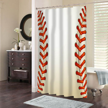 Baseball Texture Ball Special Custom Shower Curtains That Will M