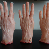 Spooky Severed Hand Candle