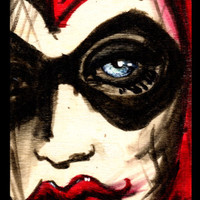 Harley Quinn stretched canvas print