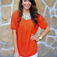 Run Away With Me Top: Orange | Hope's