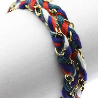 Friendship Wrap Bracelet Coral Evergreen