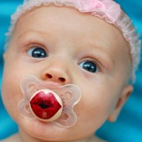 Kissy Face- Hand Painted Custom Pacifier