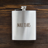 Male tears flask Funny Flask for women Birthday Gift for her Flask for women Birthday gift ideas for her Gift for women Christmas gift idea