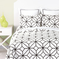 CLOSEOUT! Trina Turk Trellis Black Embroidered Quilt Collection