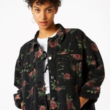 Monki | Jackets & coats | Printed denim jacket