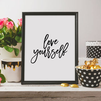 Justin Bieber quote song lyric art Purpose album Love Yourself lyrics dorm decor song quotes Justin Bieber Quote Wall artwork Word art