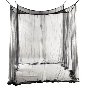 Boutique 4-Corner Bed Netting Canopy Mosquito Net for Queen