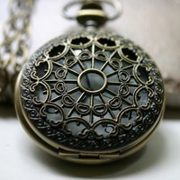 Steampunk Pocket Watch Necklace - Mens Unisex