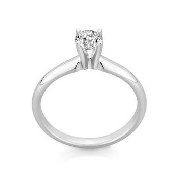 1/2 CT. Diamond Solitaire Engagement Ring in 14K White Gold - View All Rings - Zales