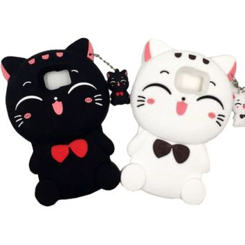 Kawaii Cat iPhone Phone Case With Charm