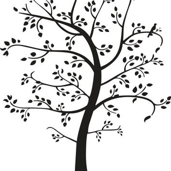 Tree with Cat and Bird Wall Decal