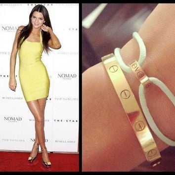 GORGEOUS LOVE BRACELETS BANGLES 18CT PLATED MADE IN THE UK LIKE CARTIER 4 SIZES!