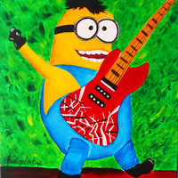 Minion Art, Minion room decor, Minion Painting, Boys room decor