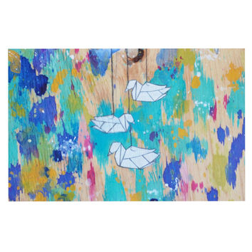 "Kira Crees ""Origami Strings"" Decorative Door Mat"