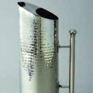 Elegance Hand Crafted High Quality Stainless Steel Hammered Straight Pitcher
