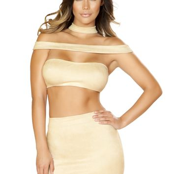 High Waisted Strappy Dress with Zipper Closure