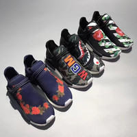 Adidas: OFF WHITHE×HUMAN RACE NMD×R1  Running shoes