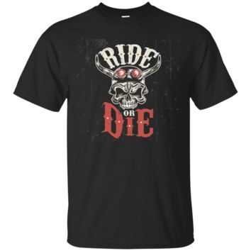 Ride or Die Motorcycle Skull Novelty T Shirt