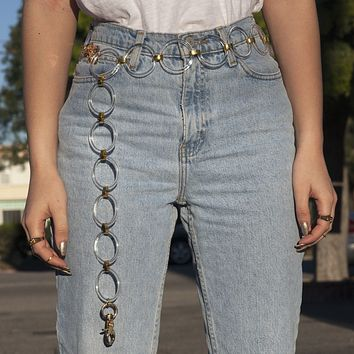 Crystal Clear Chain Mail Belt