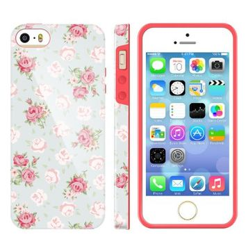 iPhone5s Girl Covers, Akna Glamour Series [Flexible TPU]*[High Impact]*[Girly Case] Soft Back Case for iPhone 5 5S**[Royal Lace Rose](U.S)